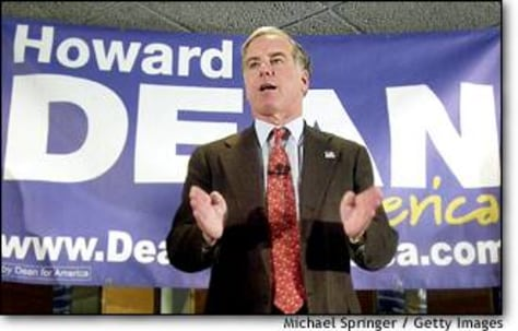 Image: Howard Dean Campaigns in New Hampshire
