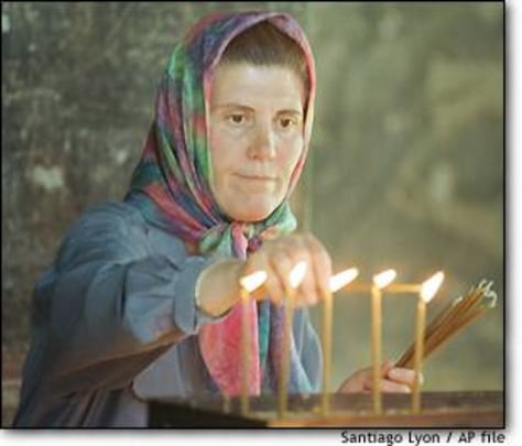 Image: Serb and candles