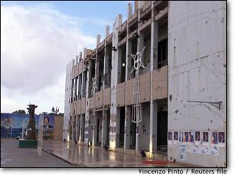 Image: The Former Residence Of Libyan Leader Gaddafi In The Bab-el-azizia Barracks