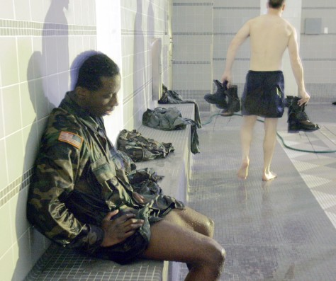 IMAGE: MILITARY CADET AFTER SWIM TEST