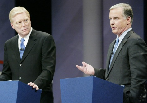 DEMOCRATIC PRESIDENTIAL CANDIDATES GEPHARDT AND DEAN AT DEBATE