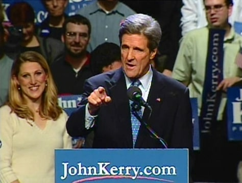 IMAGE: Kerry at rally in Washington