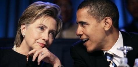 Image: Sens. Hillary Clinton, Barack Obama