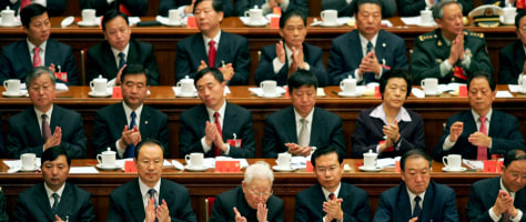 IMAGE: Delegates at Chinese Communist Party Congress.