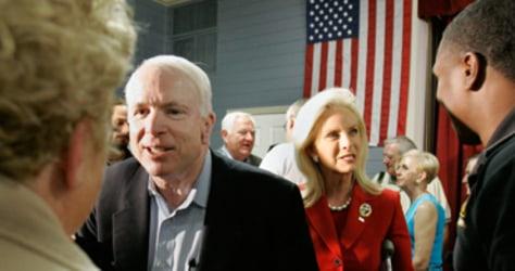 Sen. John McCain, R-AZ, Cindy McCain