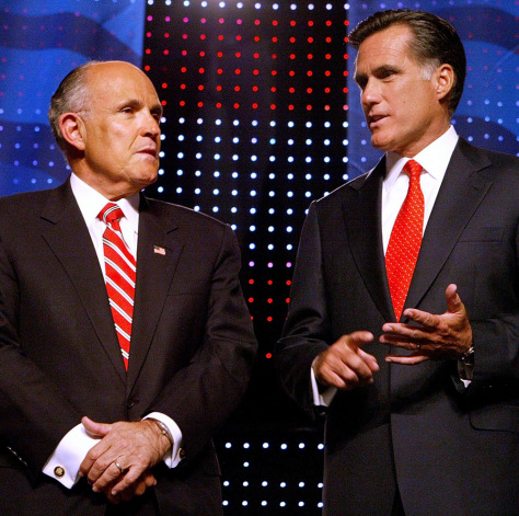 Image: Rudy Giuliani, Mitt Romney