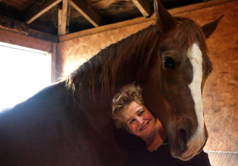 Image: Barbara Toncheff with her horse Bucky