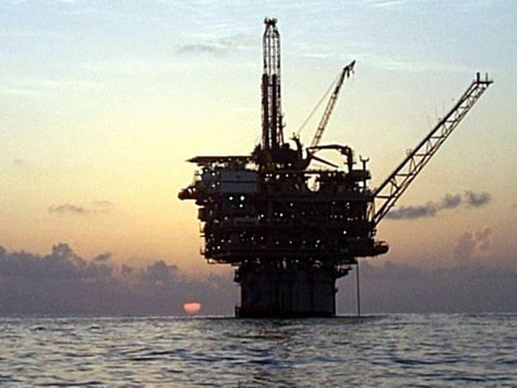 Image: Gulf of Mexico drilling platform