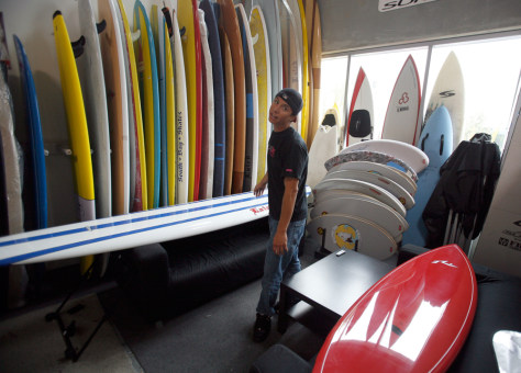 Image: Surfboard shop