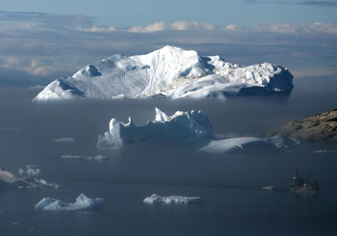 IMAGE: ICEBERGS OFF GREENLAND