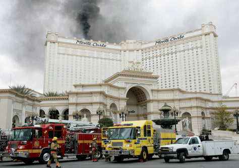 Monte Carlo Hotel Las Vegas >> Fire Damages Las Vegas High Rise Us News Life Nbc News