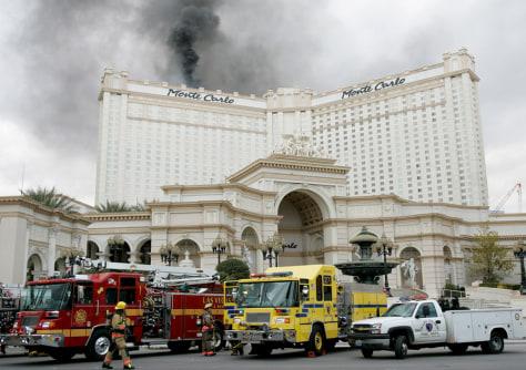 Fire Damages Las Vegas High Rise Us