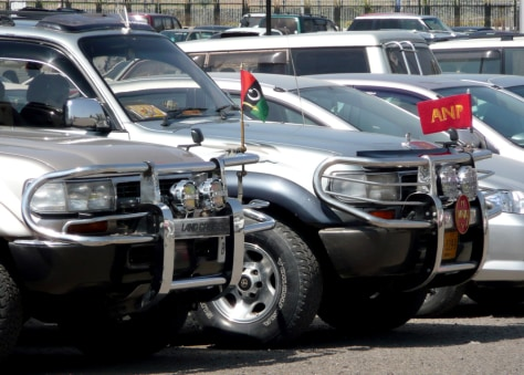 Image: SUVs outside Pakistan's parliament