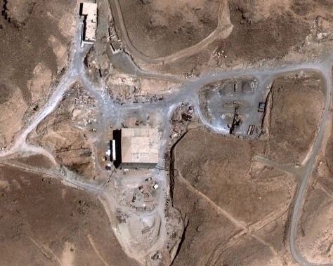 Image: Suspected nuclear reactor in Syria
