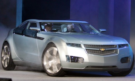 Image: A Chevrolet Volt electric hybrid vehicle