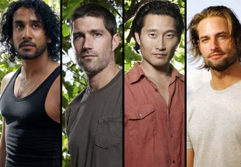 "Image: Jack, Sayid, Jin and Sawyer from ""Lost."""