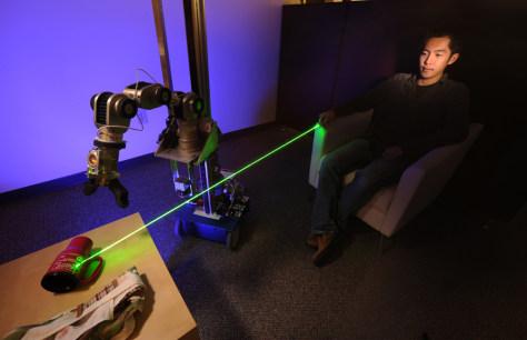 Image: laser-directed robot