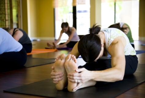 Image: Yoga pose, forward fold