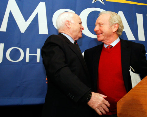 Image: U.S. Senators John McCain and Joseph Lieberman