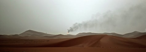 Image: Smoke over desert