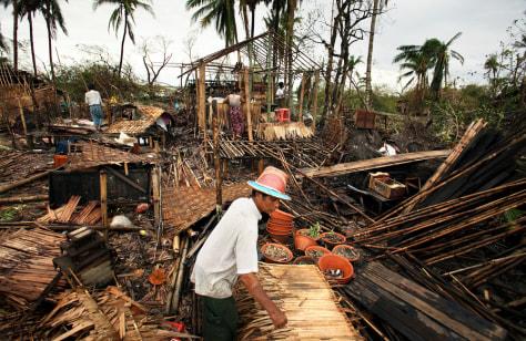 Image: Cyclone victim
