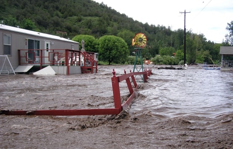 Image: Floodwaters in Ruidosa, N.M.