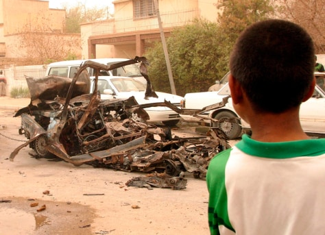 Image: Car bomb aftermath