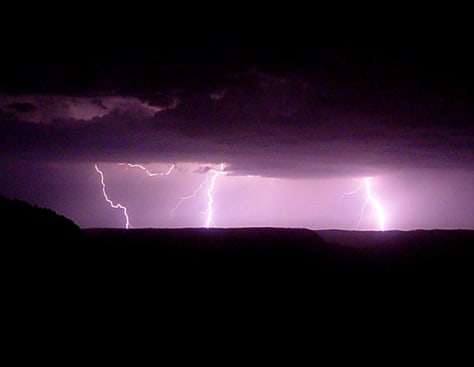 Image: Lightning reaches down from clouds in a step-by-step manner. But scientists don't know exactly how it works.