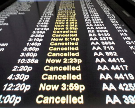 Image: Canceled flights