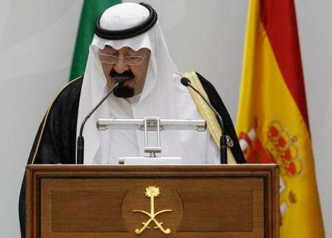 Image: Saudi King Abdullah