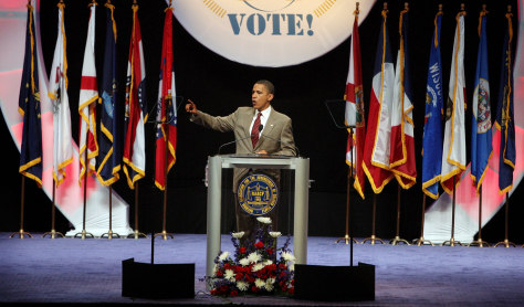 Image: Barack Obama addresses the NAACP
