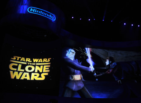 "Image: A video presentation of the new game ""Star Wars the Clone Wars"""