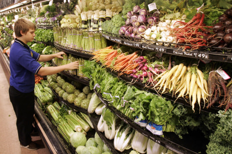 Image: A vegetable display in the produce department of a Cincinnati supermarket