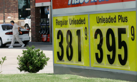 Image: A gas price sign