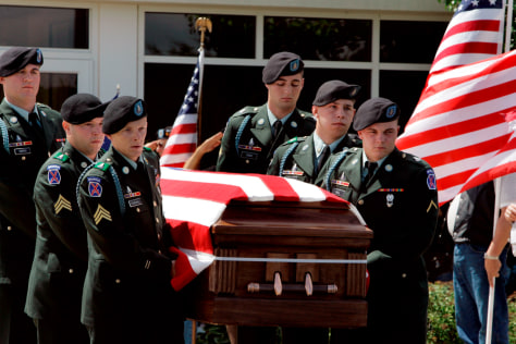 Image: Funeral of Army Spc. Byron Fouty