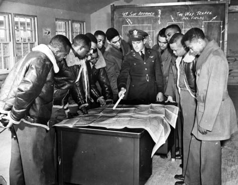 Image: Black Tuskegee airmen