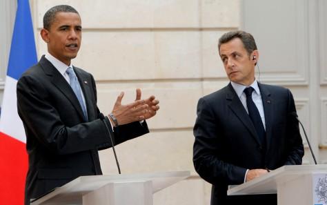 Image: Barack Obama, Nicolas Sarkozy