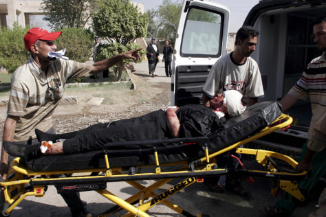 Image: Baghdad bomb victim moved to hospital