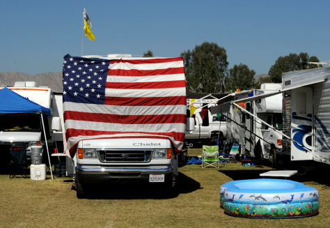 Image: RVs at a festival in California