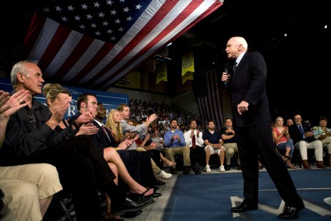 Image: John McCain Holds Town Hall Meeting In Nevada