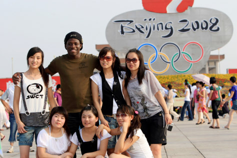 Image: A tourist in Beijing