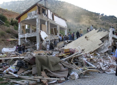 Image: Collapsed dormitory in the village of Balcilar, Turkey