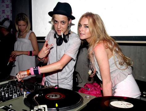Image: Samantha Ronson, Lindsay Lohan