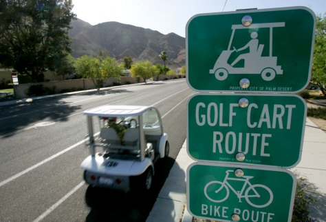 Image: Golf cart route