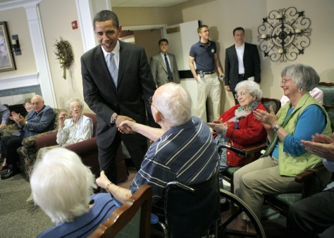Image: Barack Obamaand senior citizens