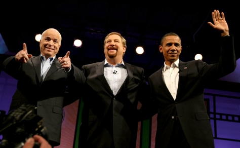 McCain And Obama Attend Campaign Forum At California Mega-Church