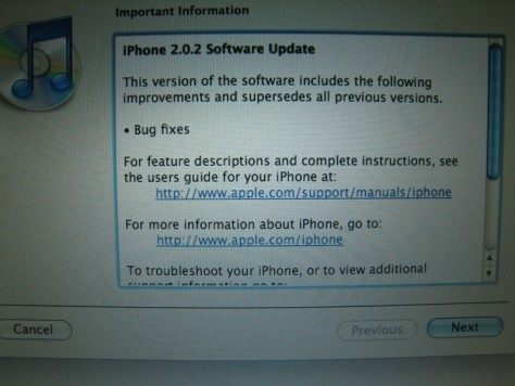 "Image: Screenshot for iPhone ""bug fix"""