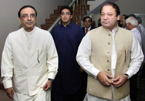 Image: Asif Ali Zardari, Bilawal Bhutto Zardari, Nawaz Sharif