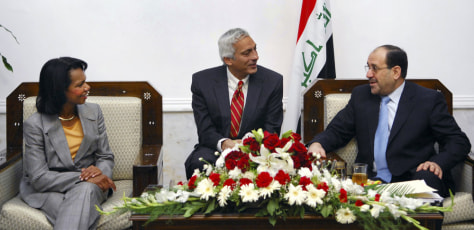 Image: Condoleezza Rice, Nouri al-Maliki