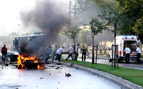 Image: Explosion in Izmir, Turkey